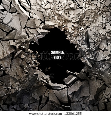 Cracked earth abstract background High resolution 3d render - stock photo