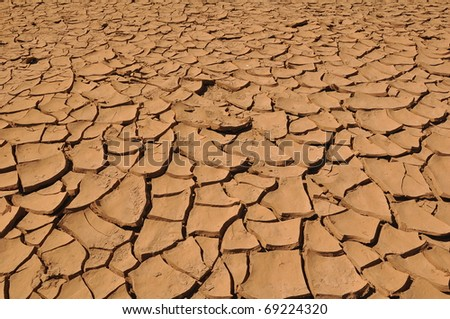 Cracked Earth Background - stock photo