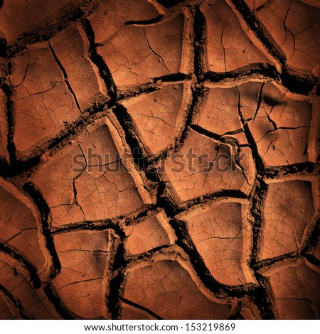 Cracked earth background or texture - stock photo