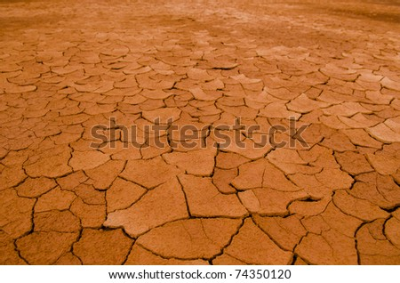 cracked earth for background purpose - stock photo