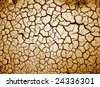 Cracked ground - stock photo