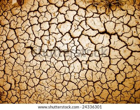 Cracked ground - stock photo