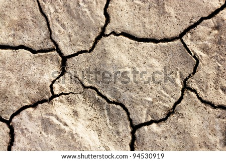 Cracked Ground. Abstract background of cracked dirt.