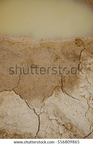 Cracked ground,Dry land. Cracked ground background,Dry cracked ground filling the frame as background