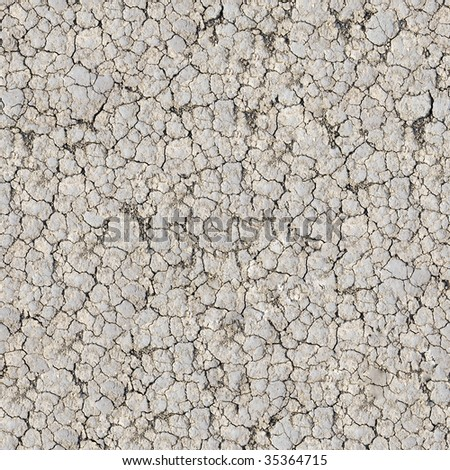 Cracked ground seamless pattern. - stock photo