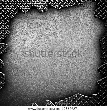 cracked iron plate - stock photo