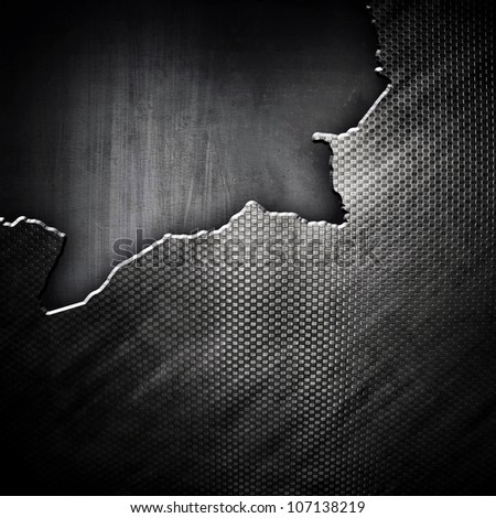 cracked metal background - stock photo