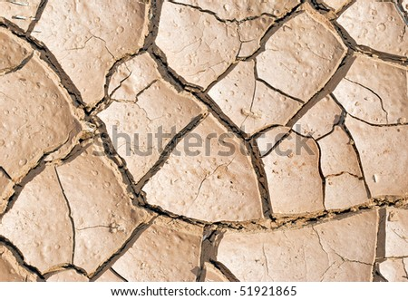 Cracked mud puzzle - stock photo