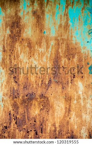 cracked old paint dirty wall background - stock photo
