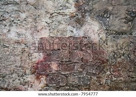cracked pain texture - stock photo
