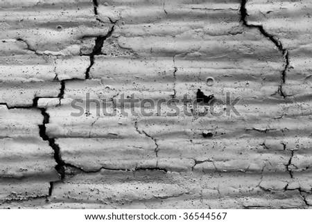 cracked paint - stock photo