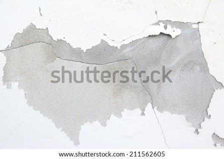 cracked paint, grunge background texture - stock photo
