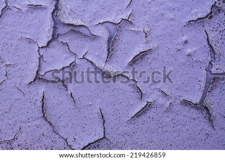 Cracked pink paint - stock photo