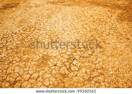 Cracked soil dry - stock photo