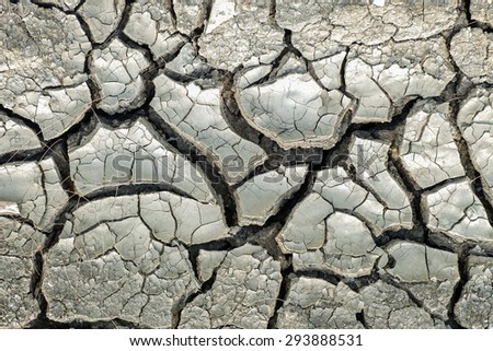 Cracked soil dry earth background - stock photo
