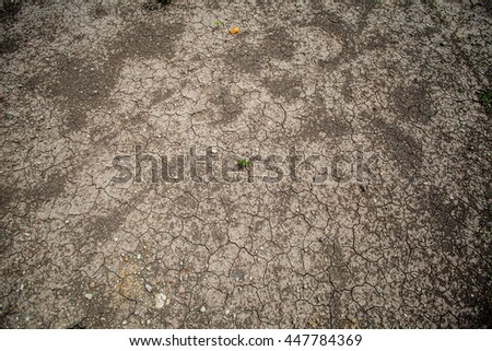 Cracked soil, dry soil - stock photo