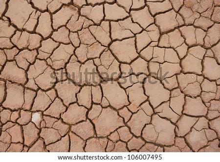 Cracked soil ground - stock photo