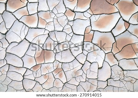 Cracked soil ground  - stock photo