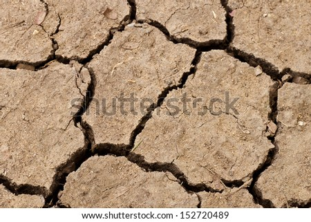 Cracked soil ground background.