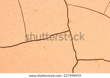 cracked soil ground, drought land so long waterless. - stock photo