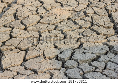 Cracked soil in dry areas drought for a background - stock photo
