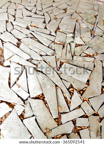 Cracked stone background - stock photo