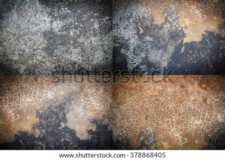 cracked stone wall background. - stock photo
