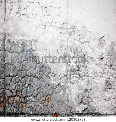 cracked stucco ; abstract grunge background - stock photo