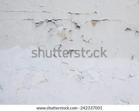 cracked stucco - plaster - stock photo