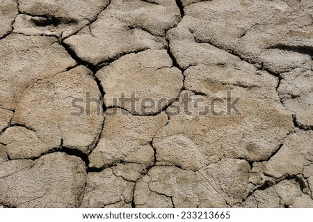 Cracked textured dry ground nature surface background - stock photo