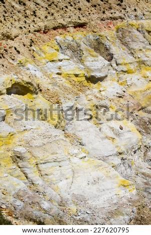 Cracked volcano ground - stock photo
