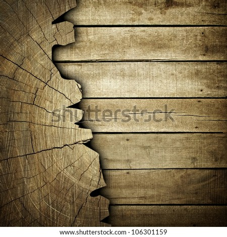 cracked wood background - stock photo
