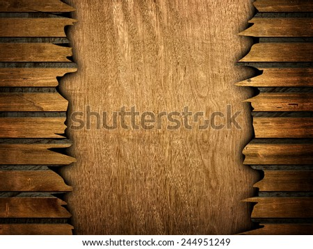 cracked wood board  - stock photo