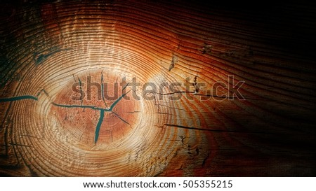 cracked wooden knot background texture, template