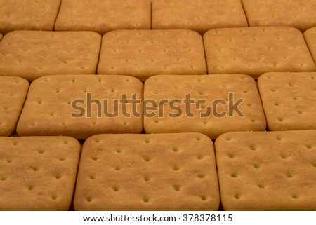 Cracker cookies close up background. tasty and fragrant - stock photo