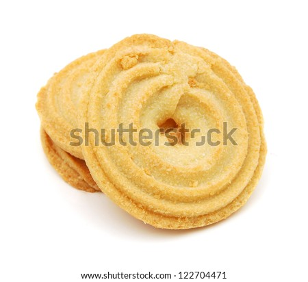 Cracker on white - stock photo