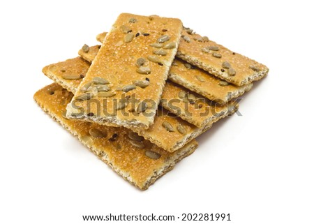 cracker with sugar, sesame and sunflower seeds