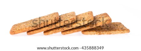 crackers snack bread isolated on a white background - stock photo