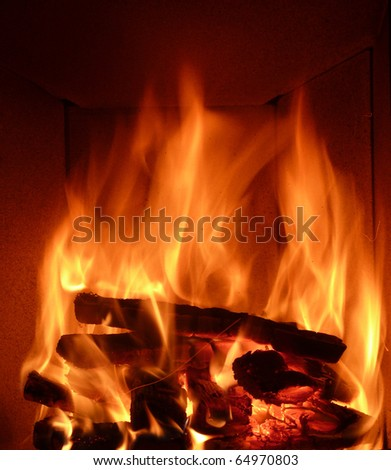 crackling fire - stock photo