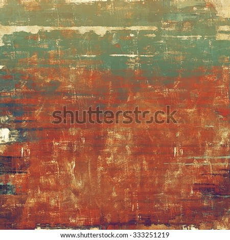 Cracks and stains on a vintage textured background. With different color patterns: yellow (beige); brown; red (orange); green - stock photo