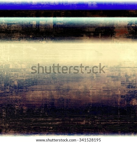 Cracks and stains on a vintage textured background. With different color patterns: yellow (beige); brown; blue; black - stock photo