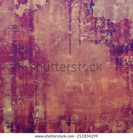 Cracks and stains on a vintage textured . With different color patterns: brown; purple (violet); pink - stock photo