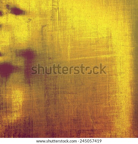 Cracks and stains on a vintage textured . With different color patterns: gray; purple (violet); yellow (beige); brown - stock photo