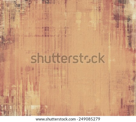 Cracks and stains on a vintage textured . With different color patterns: yellow (beige); brown; gray yellow (beige); brown; gray - stock photo