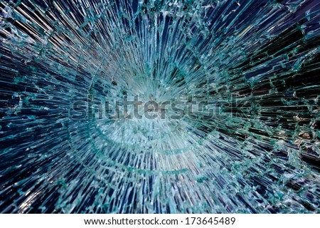 Cracks in the glass  - stock photo