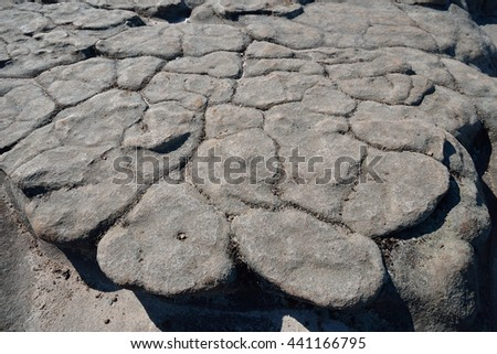 cracks on the rock, natural texture - stock photo