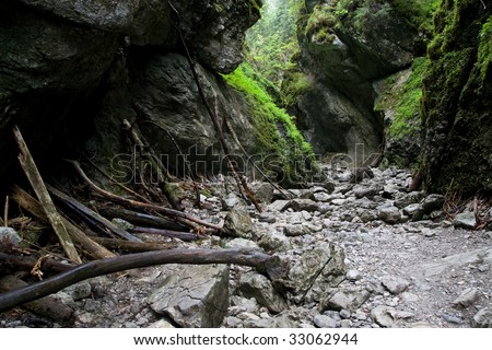 Cracow Gorge near Koscieliska Valley in Tatra Mountains, Poland. - stock photo