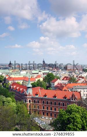 Cracow skyline - stock photo