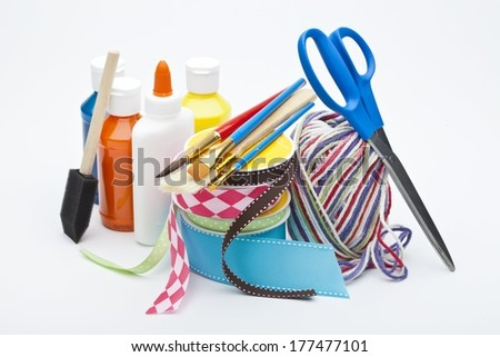 Craft Supplies - stock photo