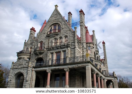 Craigdarroch Castle in Victoria BC - stock photo